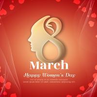 Stilvolle Hintergrundauslegung der abstrakten glücklichen Frauen Tages
