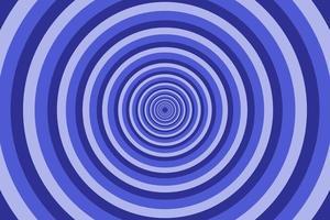 blauer strahlender konzentrischer Kreismusterhintergrund. lebendige radiale geometrische Vektorillustration vektor