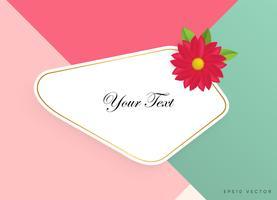Textfeld mit schönen bunten Blumen. Vektor-Illustration vektor