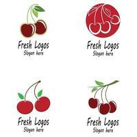 Kirsche Logo Vorlage Design Illustration vektor