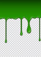Grüne Flüssigkeit, Spritzer und Flecken. Schleim-Vektor-Illustration.