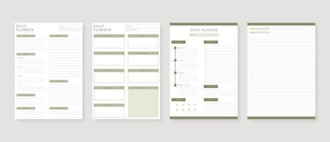 moderner Planer-Schablonensatz. Satz von Planer und Aufgabenliste. monatliche, wöchentliche, tägliche Planervorlage. Vektorillustration. vektor