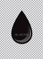 Realistisches schwarzes Öl lokalisiert auf transparentem Hintergrund. Vektor-Illustration