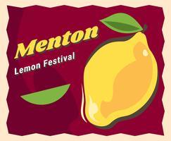 Ehrfürchtige Zitronen-Festival-Vektoren Menton Frankreich