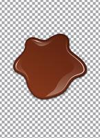 Flüssige Schokolade oder braune Farbe. Vektor-Illustration vektor