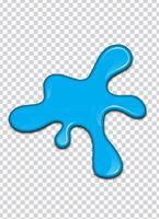 Blaues Farbenspritzen mit Transparenzhintergrund. Vektor-Illustration vektor