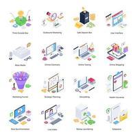 Online-Geschäft und Finanzen vektor