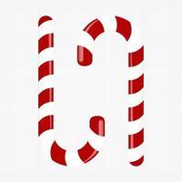 süße Zuckerstange. Dekoration für das neue Jahr. Vektor-Illustration. vektor