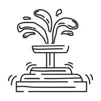 Spielplatz Kinderbrunnen, Spielen, Kinder, Kindergarten. handgezeichnete Icon-Set, Umriss schwarz, Doodle-Symbol, Vektor-Symbol vektor