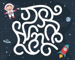 Labyrinthspielillustration für Kinder vektor