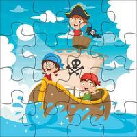 Puzzlespielillustration für Kinder vektor