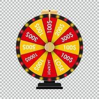 Gewinner des Casino-Rads vektor