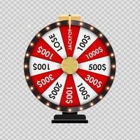 Casino Wheel Gewinner Banner vektor