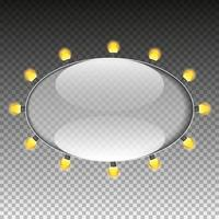 ovaler Glasrahmen vektor