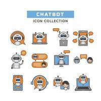 Chatbot zur Unterstützung des Kundenservice vektor