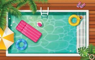 Hintergrund des Sommerschwimmbads vektor