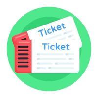 Tickets und Wertmarken vektor