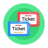 Eintrittskarten und Gutscheine vektor