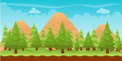 Nadelbäume Hintergrund vektor