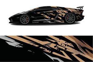 abstrakter Hintergrund des Autoverpackungsgrafikrennens für Wrap und Vinylaufkleber vektor