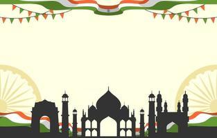 Hintergrundvorlage für den Tag der Unabhängigkeit Indiens vektor