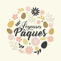 Joyeuses Pâques hälsningar vektor