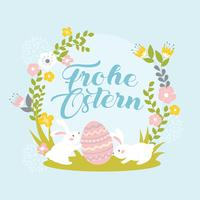 Frohe Ostern Grüße vektor
