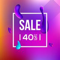 Försäljning Banner Liquefy Fluid Färg bakgrund