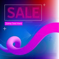 Verkaufs-Fahnen-verflüssigender flüssiger Farbhintergrund