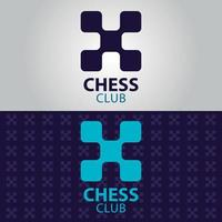 Schachclub-Logo vektor
