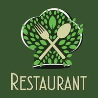 Restaurant vegetarisches Konzept vektor
