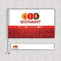 Restaurant mit Flaggenlogo vektor