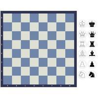Schachbrett mit Stücken vektor
