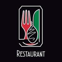 Konzept Logo Restaurant vektor