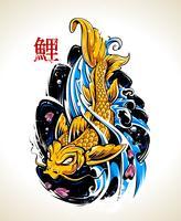 Vektor Koi Fische