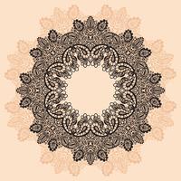 Prydnad rund spets med Mandala