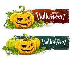 Grunge halloween banderoller vektor