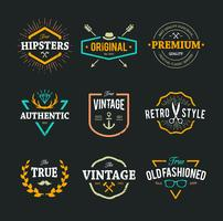 Vector Hipster Emblem