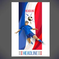 Fußballkarte und Infografiken