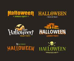 Halloween-Typografie-Set