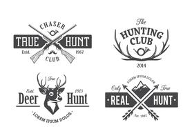 Vintage Jagd Embleme