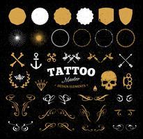 Tattoo-Design-Elemente vektor