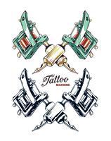 Tattoo Maschinenvektor vektor