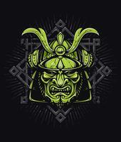 Vektor-Samurai-Maske
