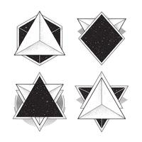 Geometriska Hipsterramar vektor