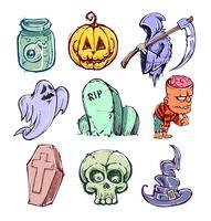 Roliga halloween karaktärer vektor