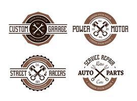 Retro Stil Auto Embleme vektor