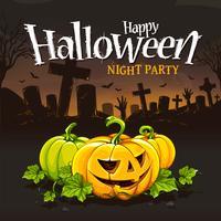 Halloween-Kartenentwurf