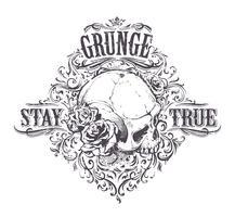Grunge-Schädel-Kunst vektor