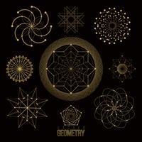 Heliga geometriska former, former av linjer, logotyp, tecken